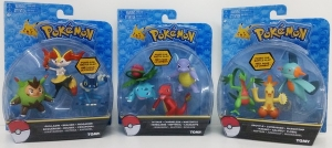 POKEMON ACTION X 3 FIGURAS TOMY COD T18524