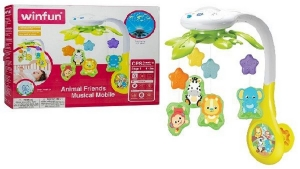 CUNERO PROYECTOR MUSICAL CON ANIMALES WINFUN COD 0854-NL