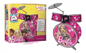 BATERIA MUSICAL COMPLETA BARBIE ORIGINAL COD BB9992