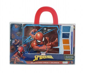 MALETIN CREAR COLOREAR  SPIDERMAN COD VSP13208